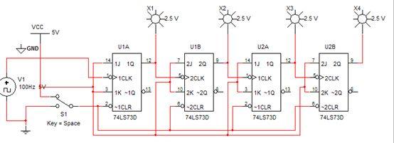 分析电路,将它改为减法计数器